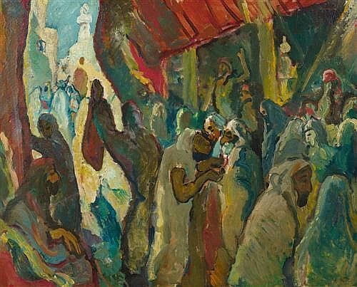 KAHLER, EUGEN (1882 Prague - 1911 Munich) At the Bazaar. 1911.