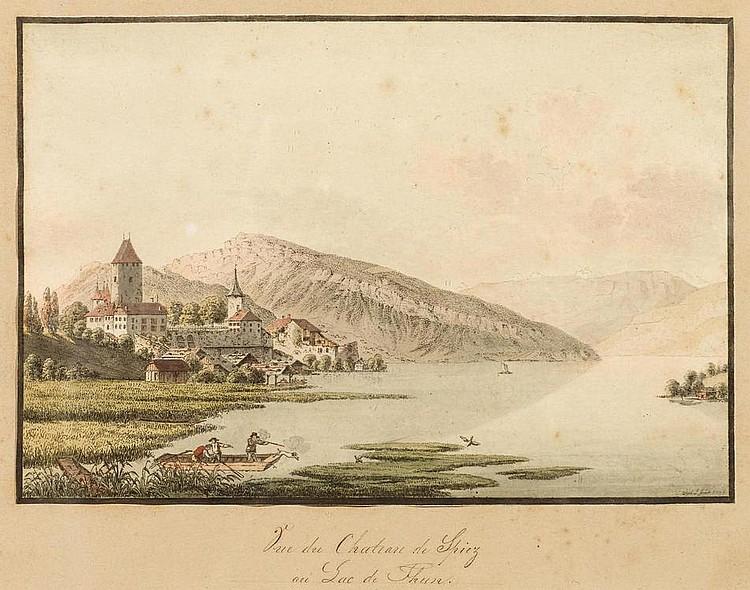WEIBEL, JAKOB SAMUEL (1771 Bern 1846). Lot of 3