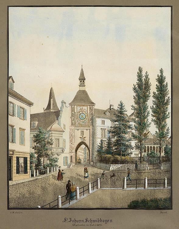 BASEL CITY.- Anton Winterling (1801-1894). St.