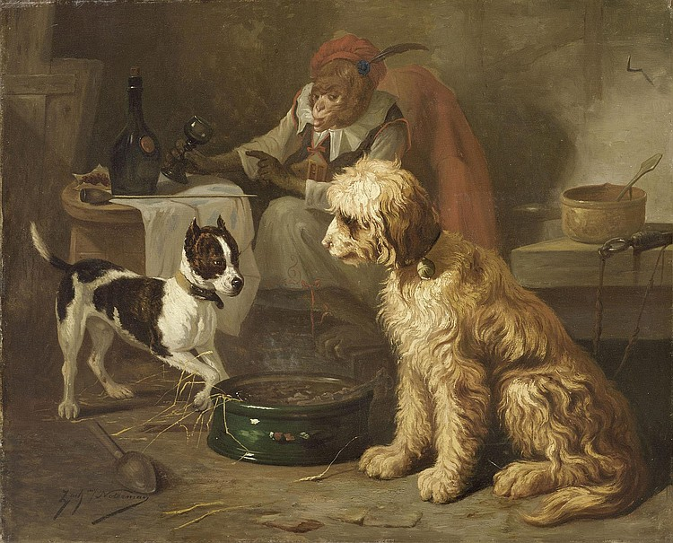 NOTERMAN, ZACHARIE (Ghent 1820 - 1890 Paris) Meal
