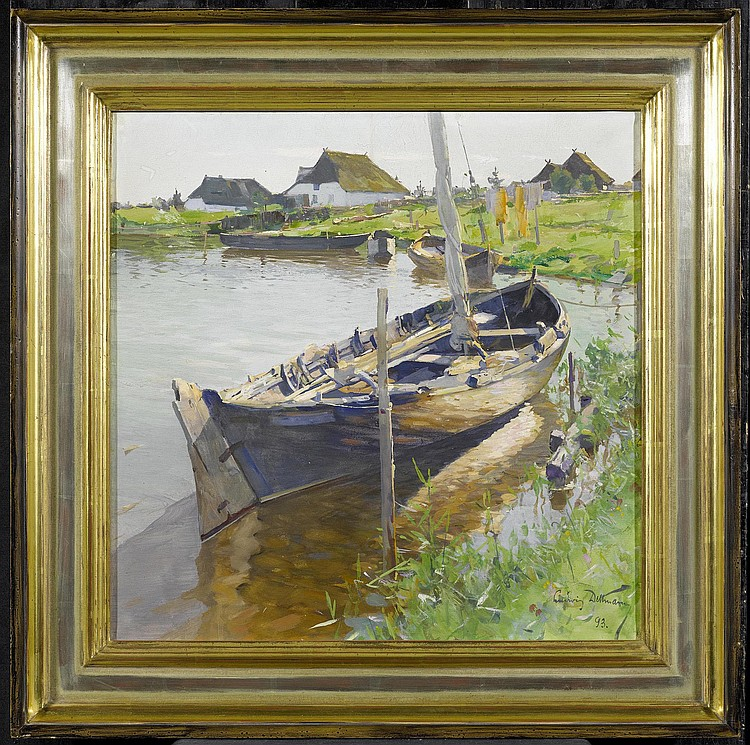 DETTMANN, LUDWIG (1865 Adelbye 1913) Boats at