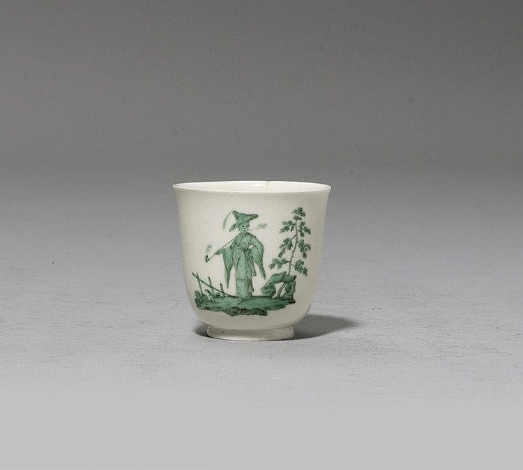 CUP WITH GREEN CHINOISERIE SCENE,Italy, Vezzi,