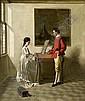 *WOLF, FRANZ XAVER Die Musikstunde. Öl auf Holz. 60 x 50 cm., Franz Xaver Wolf, Click for value