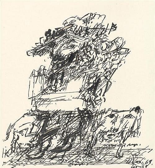 LION, DMITRY BORISOVITCH (1925-1993) Abstract composition. 1969.