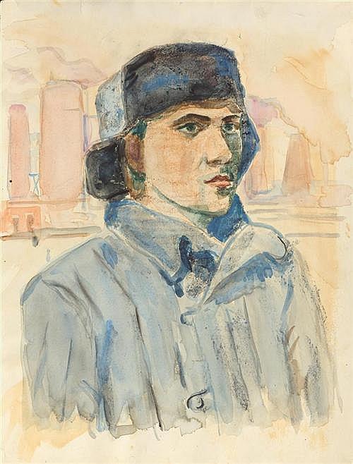 LABAS, ALEXANDER ARKADIEVITCH (1900-1983) Portrait of a man. 1938.