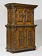 DEUX-CORPS CABINET, late Renaissance, France, 19th