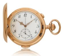 Pocket watch with minute repeater and chronograph, ca. 1900