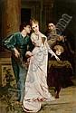 CONTI, TITO (1842 Florenz 1924) Mädchen umschwärmt von einem Verehrer. Öl auf Holz. 47,7 x 31,2 cm., Tito Conti, Click for value