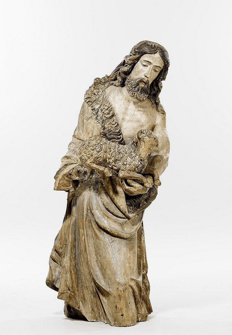 JOHN THE BAPTIST, Baroque, mid 17th c., attributed