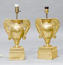 PAIR OF ALTAR VASES AS TABLE LAMPS, Baroque