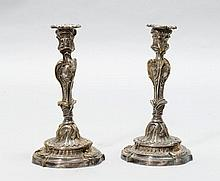 PAIR OF CANDLESTICKS, in the style of the 18th