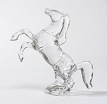 BACCARATFIGURE OF A HORSE, ca. 1990.Colourless