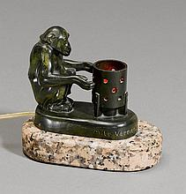 MAX LE VERRIER (1891-1973)Bronze with green