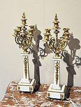 PAIR OF GIRANDOLES,Napoleon III, France.Bronze,