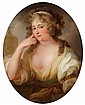 FRANCE, 18th centuryPortrait of a Young Lady.Oil