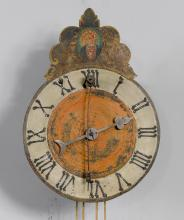 ONE-HAND IRON WATCH WITH FRONT PENDULUM,