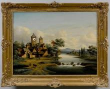 CLOCK IN A PAINTING,