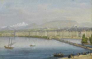 GENF.- Jean Dubois (1789 - 1849). La rade de
