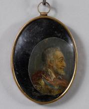 OVAL MINIATURE PORTRAIT OF HENRY IV,