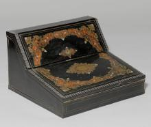 TRAVEL WRITING SET WITH BOULLE MARQUETRY,