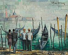 NINOS, ANTONIS(1912 Greece 1996)Venice.Oil on