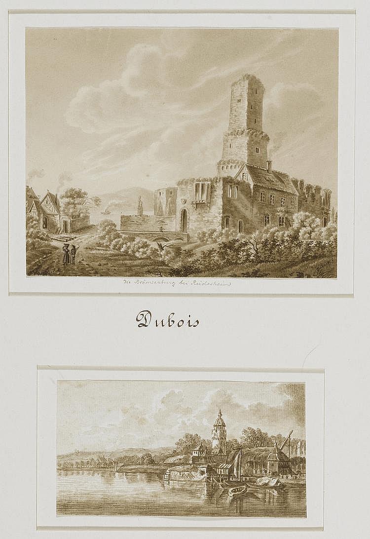KONVOLUT.- Lot von 4 Zeichnungen: 1. Dubois. Die