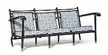 JACQUES ADNET(1900 - 1984)THREE-SEAT SOFA, c.