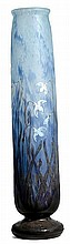 DAUM NANCYVASE, c. 1900Blue glass overlaid in