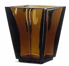 DAUM NANCYVASE, c. 1940Moulded brown glass. Signed
