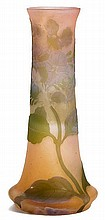 EMILE GALLEVASE, c. 1900Pink glass overlaid in