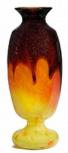 SCHNEIDERVASE, c. 1925Yellow glass with red and