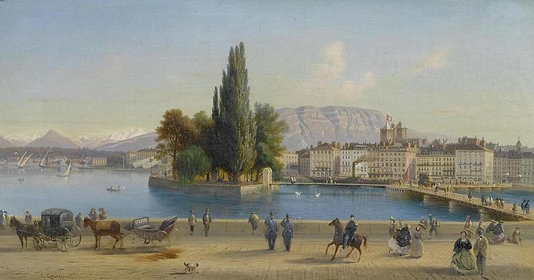 GUIGON, CHARLES LOUIS(1807 Geneva 1882)View of