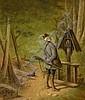 VOLZ, HERMANN(1814 Biberach 1894)Hunter at a, Hermann (1814) Volz, Click for value