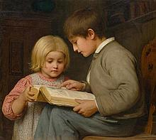 ANKER, ALBERT(1831 Ins 1910)Boy and girl with