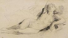ANKER, ALBERT(1831 Ins 1910)Reclining female