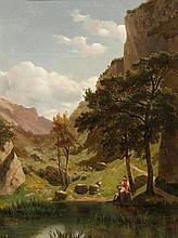 CALAME, ALEXANDRE(Vevey 1810 - 1864 Menton)Valley