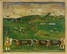 HAIM, FRANZ-ANTON(1830 Haslen 1890)Der Alpauftrieb