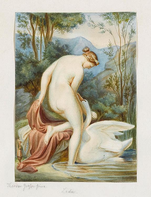 GROSSE, FRANZ THEODOR (1829 Dresden 1891).Leda and