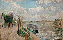 SIGNAC, PAUL(1863 Paris 1935)Quai de Saint-Ouen.