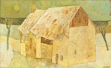 MONNIER, CHARLES(Geneva 1925 - 1993 Sierre)Le moulin en hiver. 1967.Oil on ca