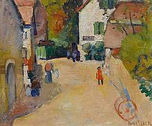 BRESSLER, EMILE(1886 Geneva 1966)Village de Choully (Geneva).Oil on canvas. S