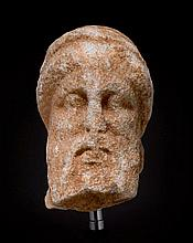 HEAD OF A BEARDED MAN, Greek, 4th century B.C.
