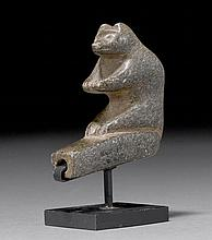 PIPE BOWL SCULPTURED AS A BEAR, Mound Builders,
