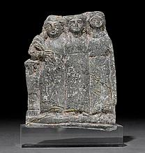 3 FEMALE FIGURES IN RELEIF, probably Cyprus,