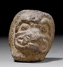 HEAD OF PAZUZU, Mesopotamia, 900-600 B.C.Dark