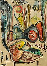 GUSTAVE ASSELBERGS1938 - 1967Ohonie. 1960.Oil on
