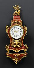 PAINTED CLOCK with plinth,Louis XV, the dial and