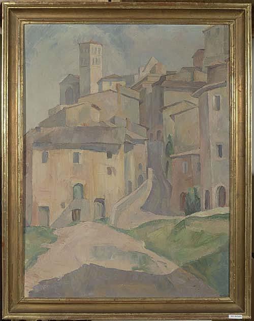 AMMANN, EUGEN Assisi. Öl auf Leinwand. 75,5 x 57,5 cm.