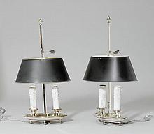 1 PAAR BOUILLOTTE-LAMPEN,
