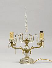 GIRANDOLE, Napoléon III.Messing silberfarben